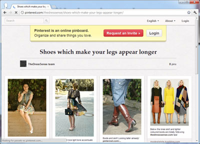 Our Pinterest Board on shoes which can help to lengthen your legs visually...